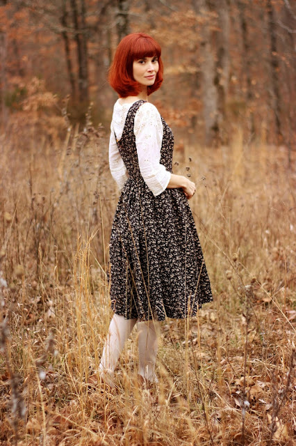 Butterick Retro Pattern B5748 Black Ivory Lace Handmade Dress Autumn Fashion Classic