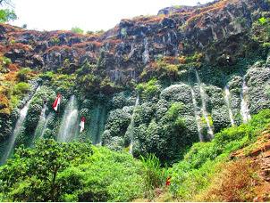 Sumber Pitu, The Intertwining Waterfalls In Pujon East Java, Pujun village, beautiful panorama east java, hidden waterfall in malang, paradise in Indonesia