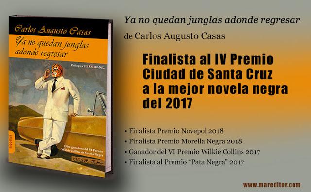 Carlos Augusto Casas, finalista al IV Premio Ciudad de Santa Cruz de Novela Negra