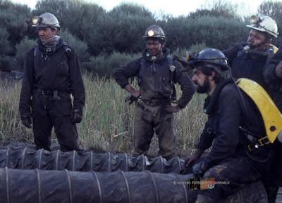 Brigada de Salvamento (prácticas en Vallejo de Orbó) foto de Avelino Molina