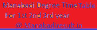 Manabadi Degree Time Table 2018