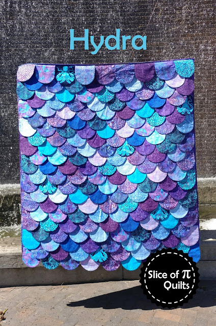 Hydra mermaid scales quilt pattern by Slice of Pi Quilts