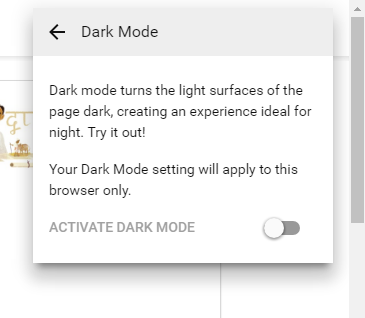 activate YouTube hidden Dark Mode features