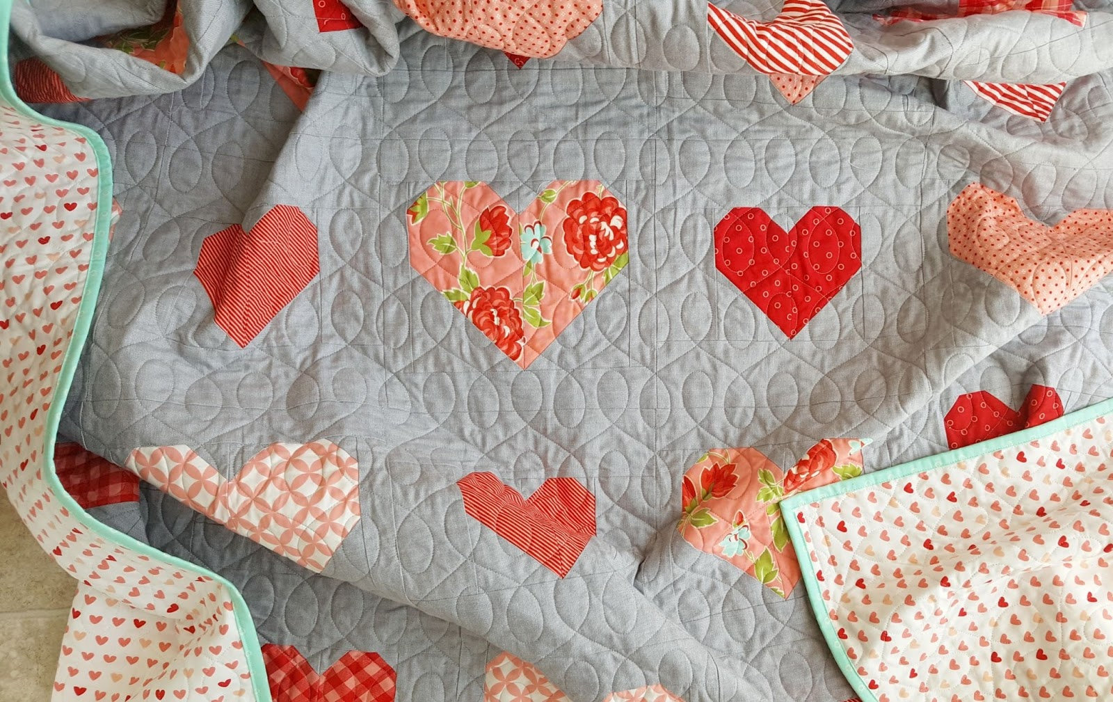 Making heart blocks in multiple sizes cluck cluck sew