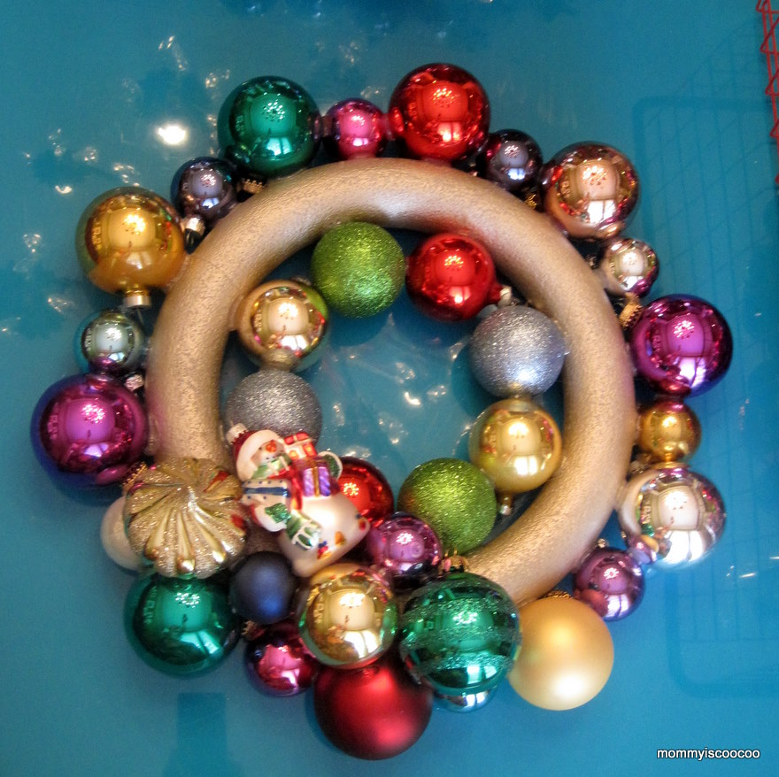 Easy Ornament Wreath Tutorial