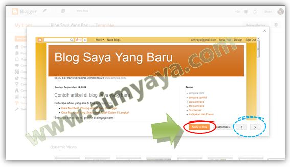 Gambar: Preview Template Blog