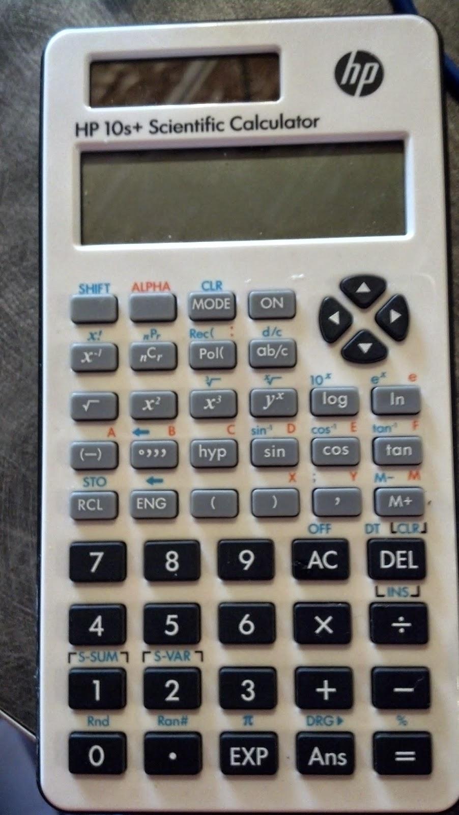 Eddie's Math and Calculator Blog: Caliber Scientific Calculator by
