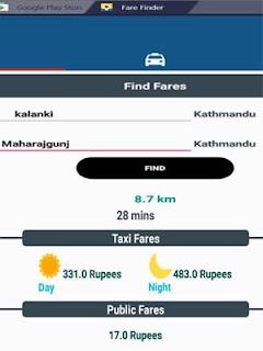Taxi Fares Nepal - Fare Finder App