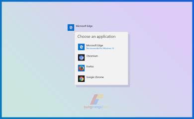 Cara Mengganti Default Browser Windows 10, (Tutorial Dilengkapi Gambar)