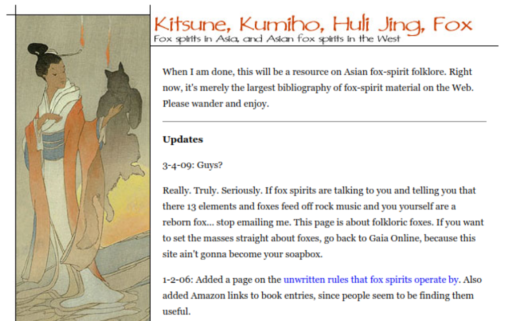 Mythology and Folklore UN-Textbook: Fox Spirits