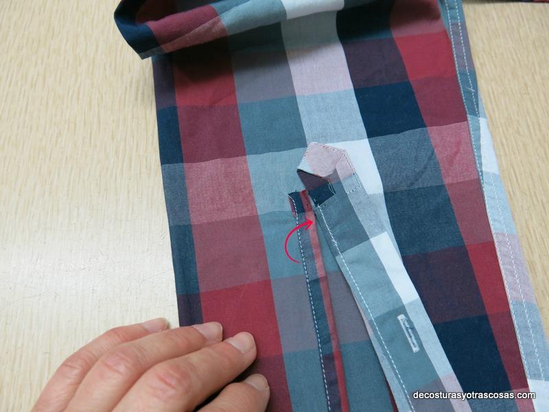 como acortar una manga camisera