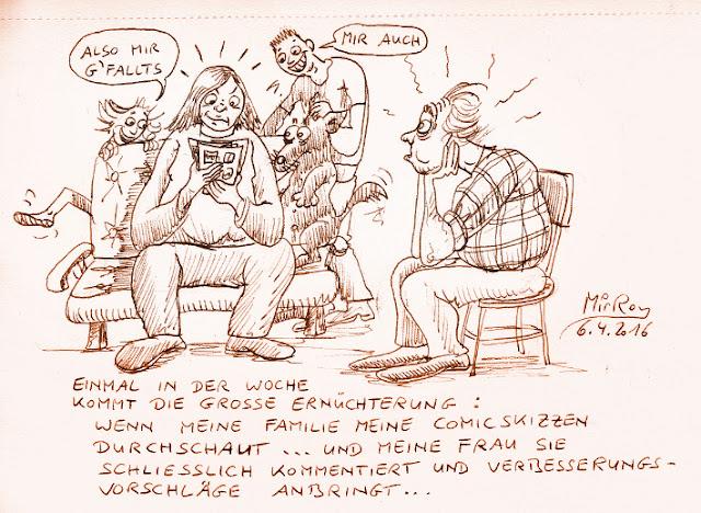 Comic Skizzen im Test - eine Karikatur von MirRoy