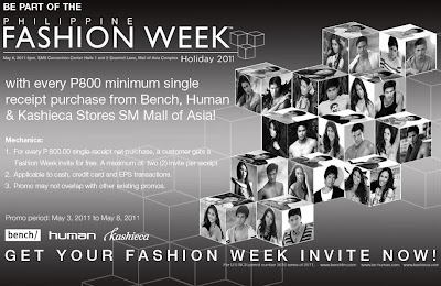 Bench Fashion Show, Philippine Fashion Week Holiday 2011