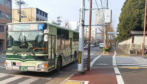 Kyoto City Bus 206 near Daitokuji, Kyoto.