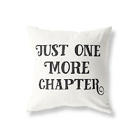 Just One More Chapter Book Pillow - Gift Ideas for Bookworms and Book Lover Gift Guide