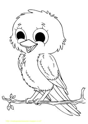 Gambar Mewarnai Burung - 8