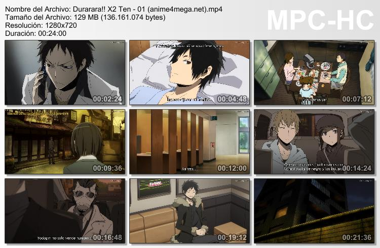 Durarara!!x2 Ten capturas