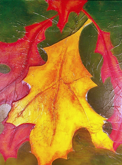 Fall Leaves Mixed Media