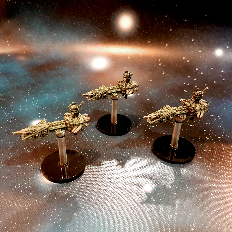Battlefleet Gothic: Plague Fleet Idolator Class Raiders - Jade