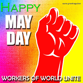 New May Day Images 2019.Happy May Day Multi color Image wishes.