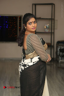 Telugu Actress Jayavani Jayavani Stills in Black Saree at Intlo Deyyam Nakem Bhayam Success Meet  0032.JPG