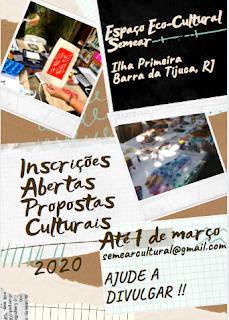 Semear 2020: abertas as inscrições de propostas culturais