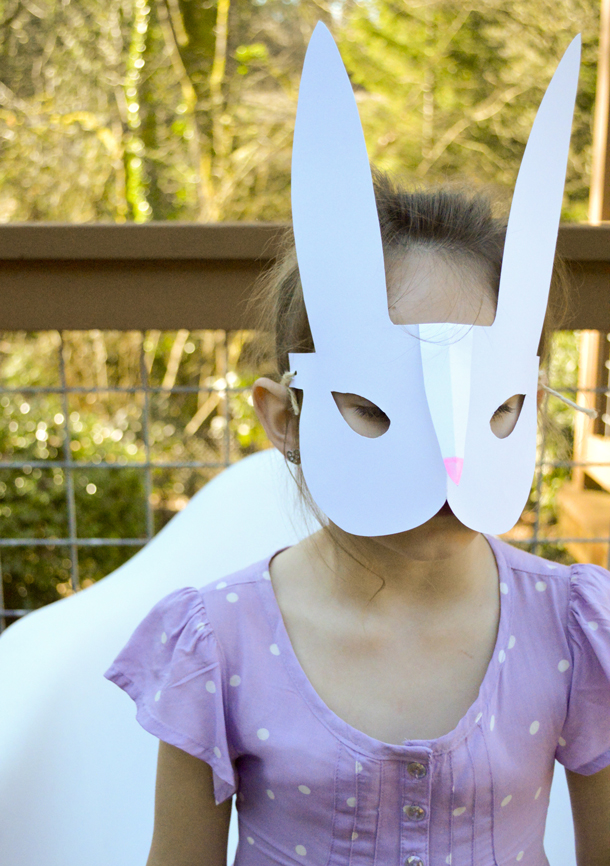It's just a graphic of Printable Bunny Mask for outline
