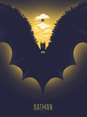 Emerald City Comicon 2016 Exclusive Batman Screen Print by Gary Pullin x Mondo