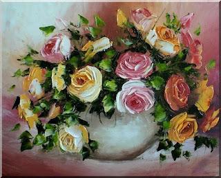 rosas-al-oleo-pintadas-con-espatula