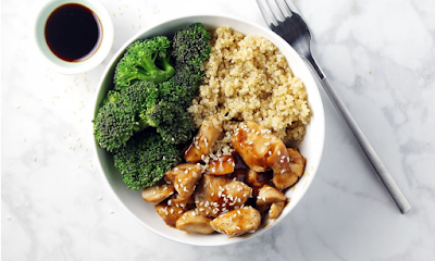 CHICKEN TERIYAKI QUINOA BOWL #food