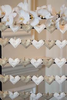 cuori origami per tableau mariage