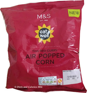 M&S Eat Well Thai Red Curry Air Popped Corn