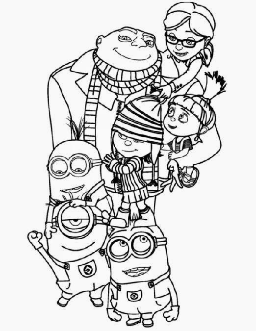 Minion Movie Coloring Pages – Colorings.net