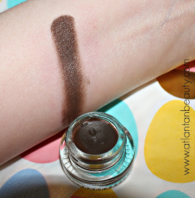 Swatch of ColourPop's Creme Gel Liner in Brew-HaHa