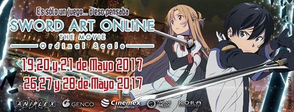 Sword art online ordinal scale poster español en México