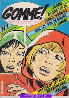 Gomme!, numéro 1, 1981, Norbert et Kari, Deltaplane, Storm