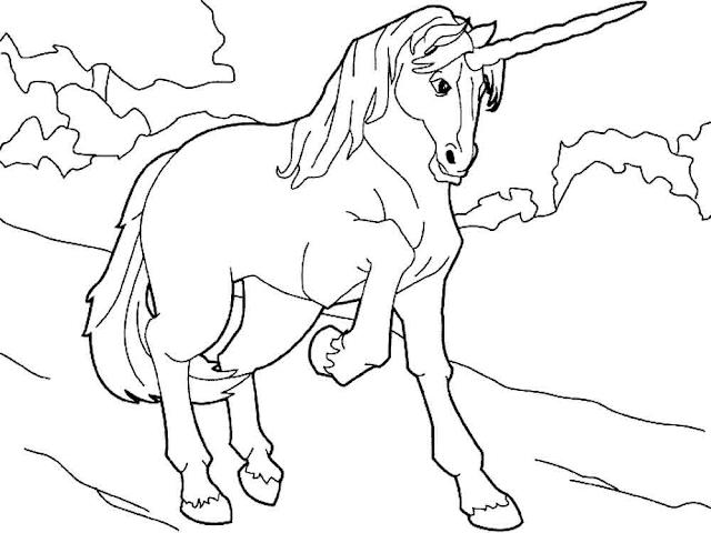 Gambar Mewarnai Unicorn - 3