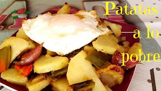 como hacer patatas a lo pobre-receta patatas a lo pobre