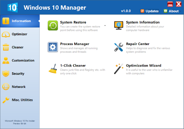 برنامج windows 10 manager