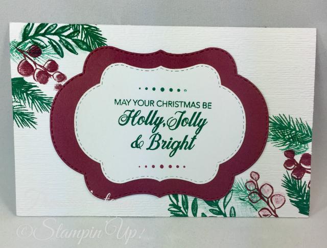Card, Peaceful Noel, Christmas, Pine