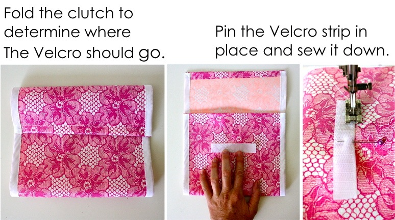 Make Sure You Only Sew The Velcro Onto One Side Of Fabric Middle Photo Above Is Simply Showing Placement Need To Pin It In Place