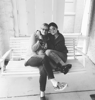 Lucy Hale with her mother Julie Knight