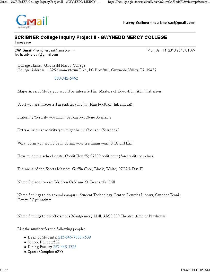 Collegium Charter School Technology Blog: College Inquiry