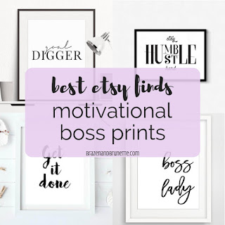 #motivationalmonday motivational quotes and prints to get you ready to tackle the upcoming finals! etsy motivational quotes. motivational print decor. motivational study space | brazenandbrunette.com