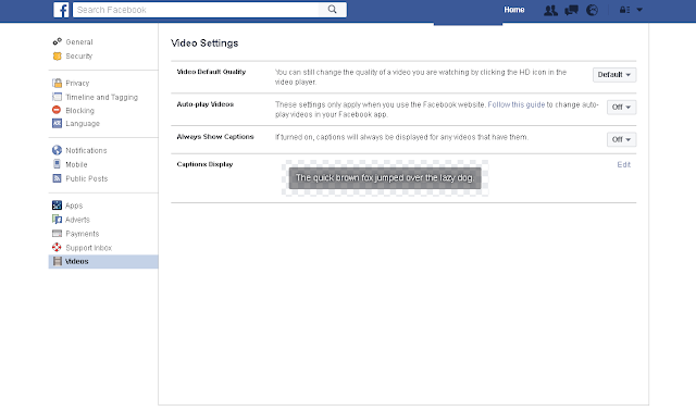 Autoplay off on PC in Facebook