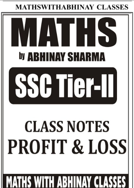 Abhinay Sir Class Notes Profit and Loss PDF Download