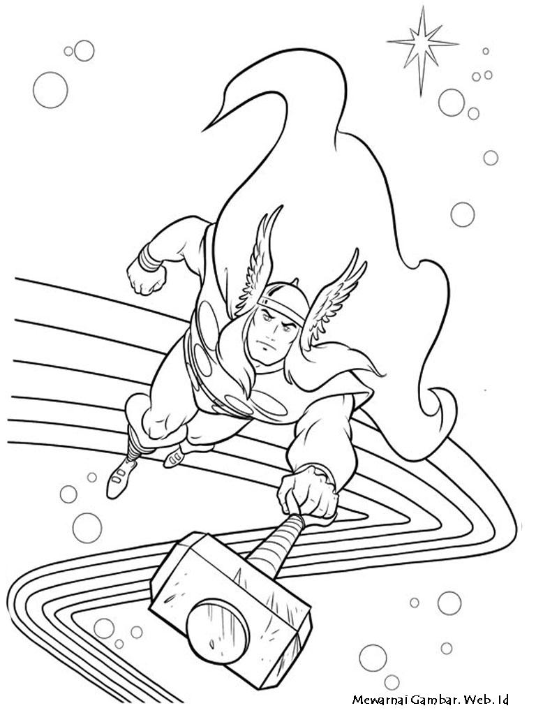 Mewarnai Gambar Thor