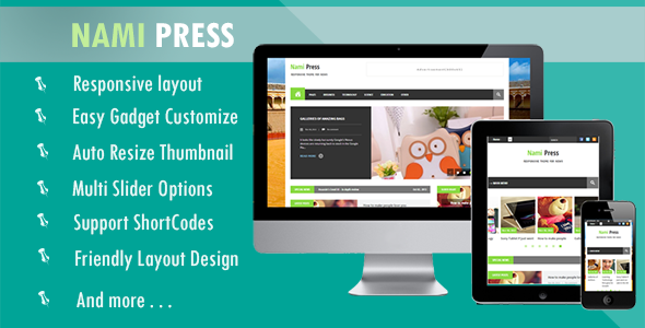 Download Free Nami Press Blogger Template