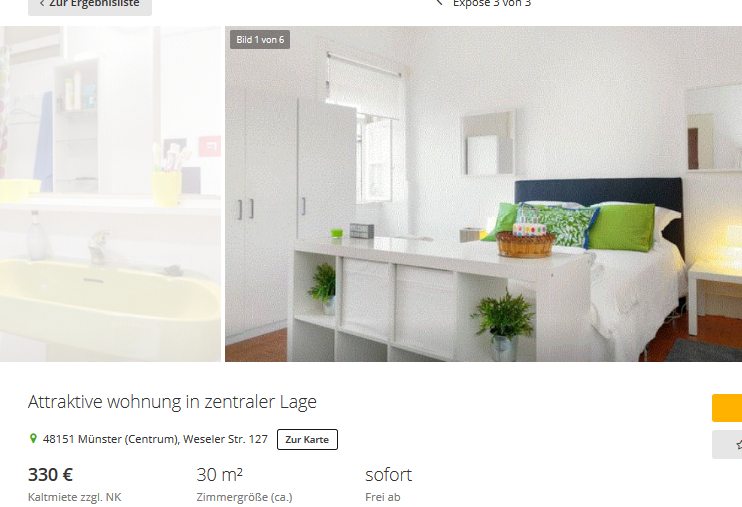 holzman maik attraktive wohnung in zentraler lage 48151. Black Bedroom Furniture Sets. Home Design Ideas