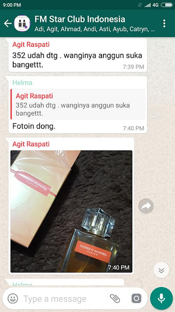 Testimoni pengguna parfum fm, review parfum fm, kesaksian user parfum fm